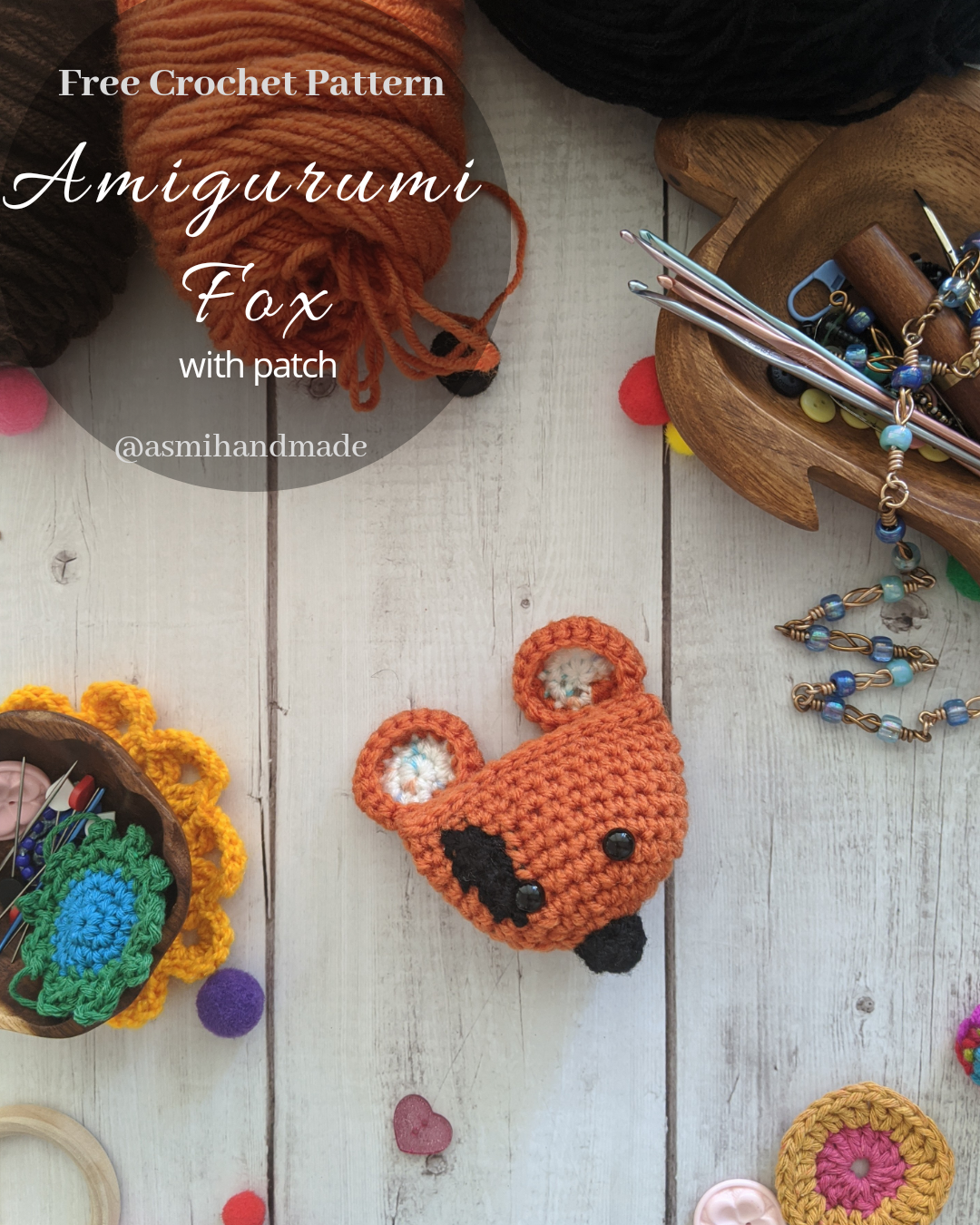 5-Way Jointed Amigurumi Fox - Crochet Pattern by Kristi Tullus ... | 1350x1080