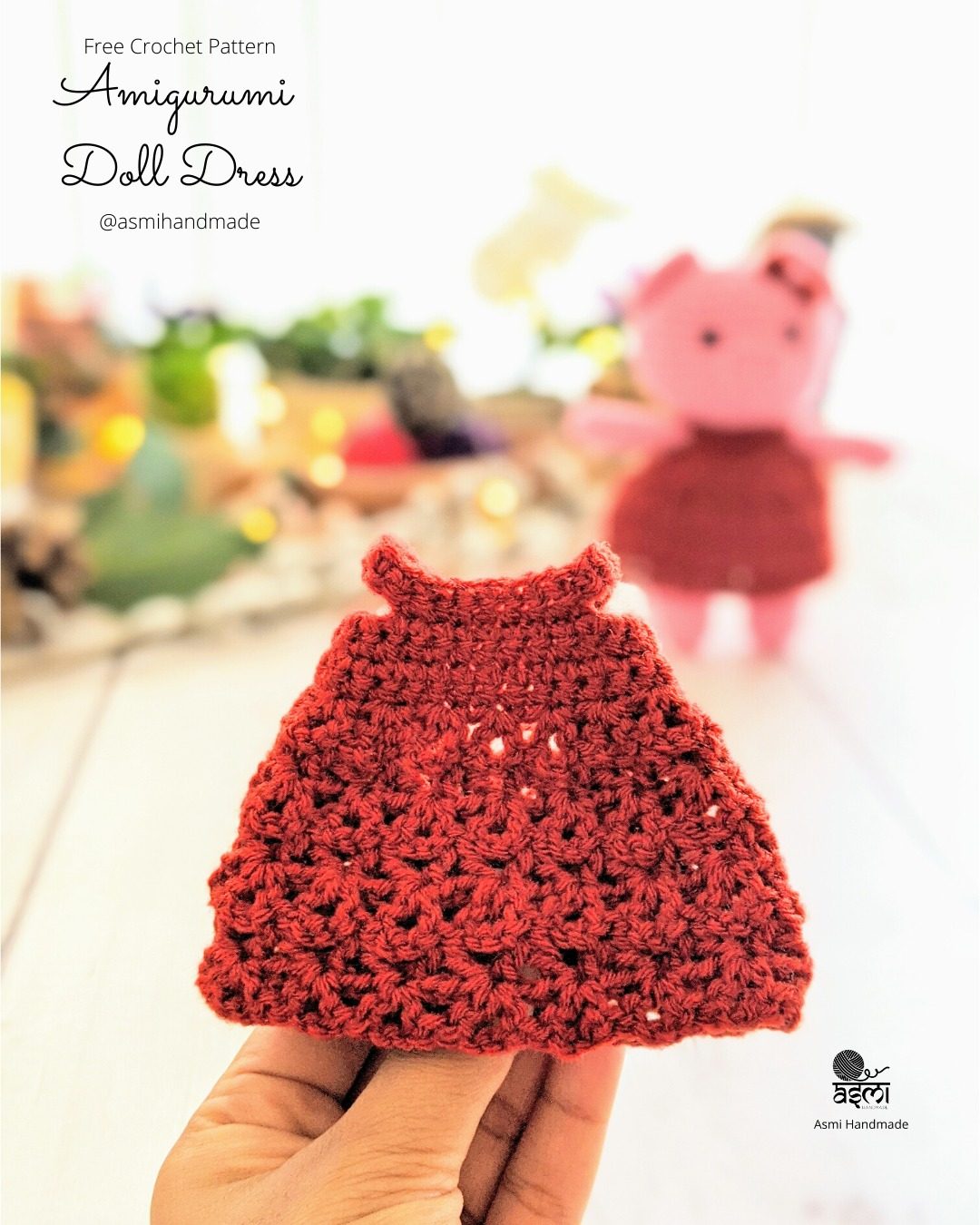 Amigurumi Dress Up Pig Free Crochet Pattern - Cool Creativities | 1350x1080